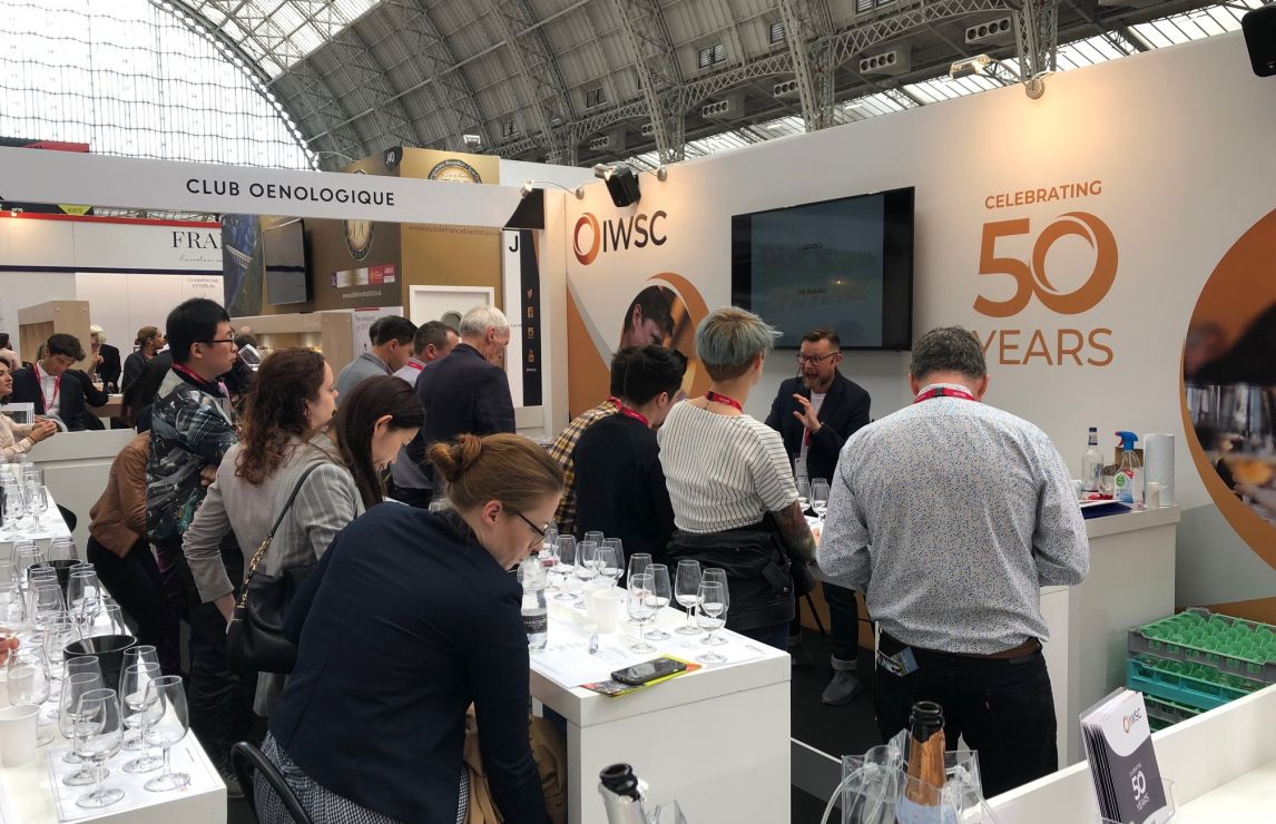 Busy masterclasses and award-winning wines on the IWSC stand at the 39th London Wine Fair