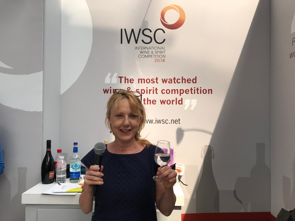Susy Atkins at London Wine Fair